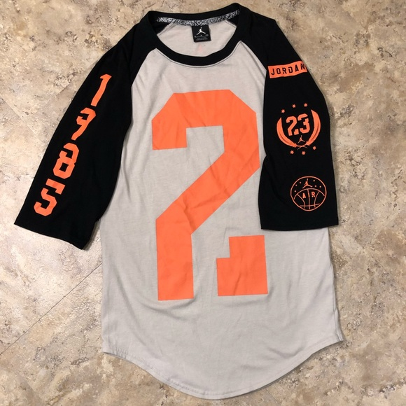 on sale 46838 67a57 Jordan 23 Raglan Baseball T Shirt Infrared Mens S